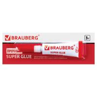 Brauberg 605566 Клей моментальный (суперклей) BRAUBERG, 3 г, ПРОЧНЫЙ, отрывная мультикарта, 605566