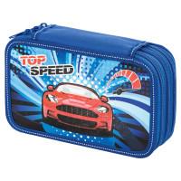 """Brauberg  Пенал BRAUBERG, 3 отделения, ламинированный картон, """"Top Speed"""", 19х11 см, 229212"""