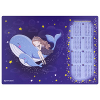 """Brauberg  Настольное покрытие BRAUBERG, А3+, пластик, 46x33 см, """"Ocean dream"""", 270400"""