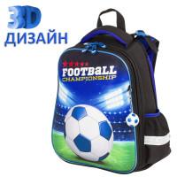 "Brauberg  Ранец BRAUBERG PREMIUM, 2 отделения, с брелком, ""Football champion"", 3D панель, 38х29х16 см, 229911"