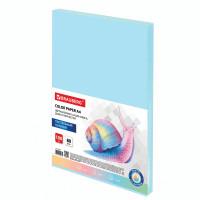 Brauberg  Бумага цветная BRAUBERG, А4, 80 г/м2, 100 л., пастель, голубая, для офисной техники, 112445