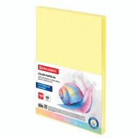 Brauberg  Бумага цветная BRAUBERG, А4, 80 г/м2, 100 л., пастель, желтая, для офисной техники, 112446