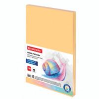 Brauberg  Бумага цветная BRAUBERG, А4, 80 г/м2, 100 л., пастель, оранжевая, для офисной техники, 112448