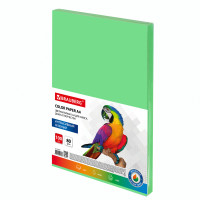 Brauberg  Бумага цветная BRAUBERG, А4, 80 г/м2, 100 л., интенсив, зеленая, для офисной техники, 112451