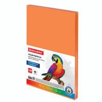 Brauberg  Бумага цветная BRAUBERG, А4, 80 г/м2, 100 л., интенсив, оранжевая, для офисной техники, 112452