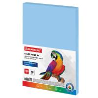 Brauberg  Бумага цветная BRAUBERG, А4, 80 г/м2, 100 л., интенсив, синяя, для офисной техники, 112453
