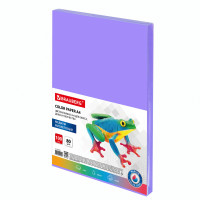 Brauberg  Бумага цветная BRAUBERG, А4, 80 г/м2, 100 л., медиум, фиолетовая, для офисной техники, 112456