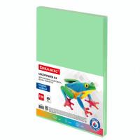 Brauberg  Бумага цветная BRAUBERG, А4, 80 г/м2, 100 л., медиум, зеленая, для офисной техники, 112458