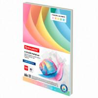 Brauberg  Бумага цветная BRAUBERG, А4, 80 г/м2, 100 л., (5 цветов х 20 листов), пастель, для офисной техники, 112460