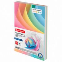 Brauberg  Бумага цветная BRAUBERG, А4, 80 г/м2, 250 л., (5 цветов х 50 листов), пастель, для офисной техники, 112463