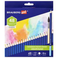 Brauberg  Карандаши художественные цветные акварельные BRAUBERG ART CLASSIC, 48 цветов, грифель 3,3 мм, 181532