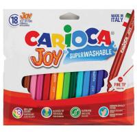 """CARIOCA 40555 Фломастеры CARIOCA (Италия) """"Joy"""" 18 цветов, суперсмываемые, вентилируемый колпачок, 40555"""