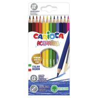 """CARIOCA 42857 Карандаши цветные акварельные CARIOCA """"Acquarell"""", 12 цветов, шестигранные, заточенные, 42857"""