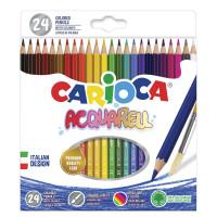 """CARIOCA 42858 Карандаши цветные акварельные CARIOCA """"Acquarell"""", 24 цвета, шестигранные, заточенные, 42858"""