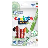 """CARIOCA 42909 Маркеры для ткани CARIOCA (Италия) """"Fabric"""", 10 цветов, круглый наконечник 2,6 мм, 42909"""