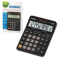 CASIO DX-12B-W-EC Калькулятор настольный CASIO DX-12B-W (175х129 мм), 12 разрядов, двойное питание, черный, DX-12B-W-EC