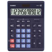 CASIO GR-12-BU-W-EP Калькулятор настольный CASIO GR-12-BU (210х155 мм), 12 разрядов, двойное питание, ТЕМНО-СИНИЙ, GR-12-BU-W-EP