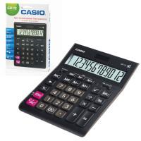 CASIO GR-12-W-EP Калькулятор настольный CASIO GR-12-W (209х155 мм), 12 разрядов, двойное питание, черный, европодвес, GR-12-W-EP