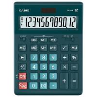 CASIO GR-12C-DG-W-EP Калькулятор настольный CASIO GR-12С-DG (210х155 мм), 12 разрядов, двойное питание, ТЕМНО-ЗЕЛЕНЫЙ, GR-12C-DG-W-EP