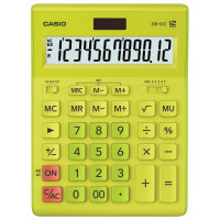 CASIO GR-12C-GN-W-EP Калькулятор настольный CASIO GR-12С-GN (210х155 мм), 12 разрядов, двойное питание, САЛАТОВЫЙ, GR-12C-GN-W-EP