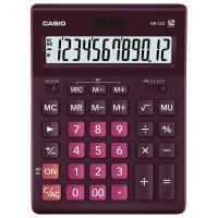 CASIO GR-12C-WR-W-EP Калькулятор настольный CASIO GR-12С-WR (210х155 мм), 12 разрядов, двойное питание, БОРДОВЫЙ, GR-12C-WR-W-EP