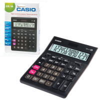 CASIO GR-14-W-EP Калькулятор настольный CASIO GR-14-W (209х155 мм), 14 разрядов, двойное питание, черный, европодвес, GR-14-W-EP