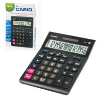 CASIO GR-16-W-EP Калькулятор настольный CASIO GR-16-W (209х155 мм), 16 разрядов, двойное питание, черный, европодвес, GR-16-W-EP
