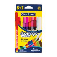 """CENTROPEN 5 2599 1002 Фломастеры CENTROPEN """"Duomagic"""", 8 цветов + 2 изменяющих цвет, ширина линии 2-3 мм, перекрашиваемые, 2599/10, 5 2599 1002"""
