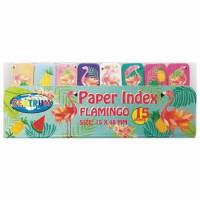"""CENTRUM 80453 Закладки клейкие CENTRUM """"Flamingo"""" бумажные, 50x15 мм, 8 цветов х 15 листов, 80453"""