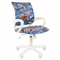"""CHAIRMAN 7027830 Кресло детское СН KIDS 103, с подлокотниками, синее с рисунком """"Машинки"""", 7027830"""