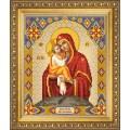 Чаривна Мить СБИ-1003 Икона Божьей Матери Почаевская. Схема для вышивания бисером