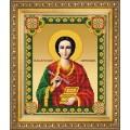 Чаривна Мить СБИ-1004 Икона великомученика и целителя Пантелеймона. Схема для вышивания бисером