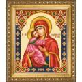 Чаривна Мить СБИ-1009 Икона Божьей Матери Владимирская. Схема для вышивания бисером