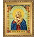 Чаривна Мить СБИ-1011 Икона Божьей Матери Умиление. Схема для вышивания бисером