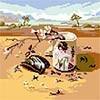 """Чаровница  Канва/ткань с рисунком """"Чаровница"""" (E) 25 x 25 см  Е-08 """"Девушка"""""""