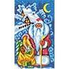"""Чаровница  Канва/ткань с рисунком """"Чаровница"""" (S) 22 x 38 см  S-01 """"Дед Мороз"""""""