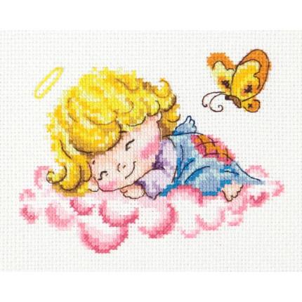 Набор для вышивания 00000062014 Набор для вышивания «Чудесная игла» 35-10 Милый ангелочек