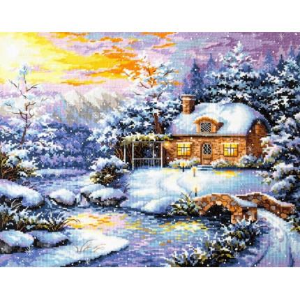 Набор для вышивания 00000078871 Набор для вышивания «Чудесная игла» 45-08 Зимняя сказка