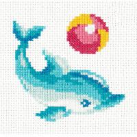 Чудесная игла 902351 10-30 Набор для вышивания Чудесная игла 'Дельфинчик' 12*12см