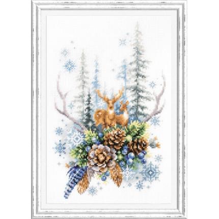 Набор для вышивания Дух зимнего леса Набор для вышивания «Чудесная игла» 200-017 Дух зимнего леса