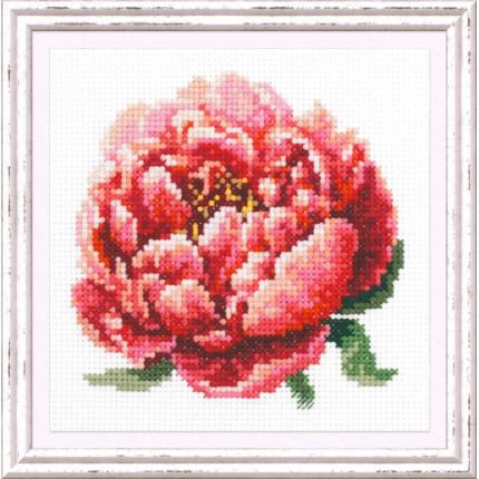 Набор для вышивания Красный пион Набор для вышивания «Чудесная игла» 150-009 Красный пион