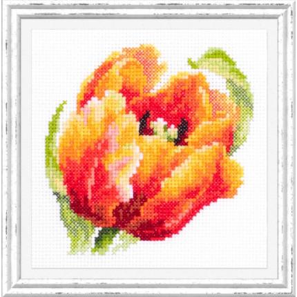Набор для вышивания Красный тюльпан Набор для вышивания «Чудесная игла» 150-010 Красный тюльпан