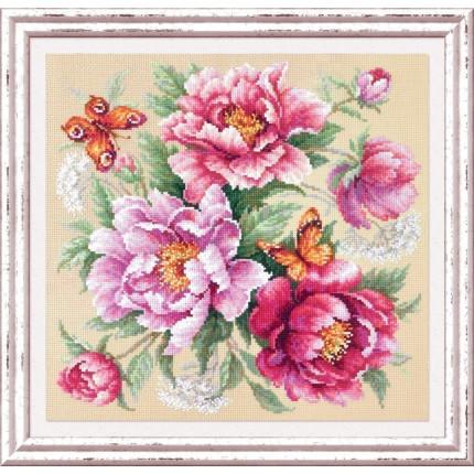 """Набор для вышивания Магия цветов. Пионы Набор для вышивания «Чудесная игла» 140-001 Магия цветов """" Пионы"""""""