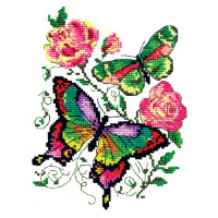 Чудесная игла Набор для вышивания «Чудесная игла» 42-04 Бабочки и розы Набор для вышивания «Чудесная игла» 42-04 Бабочки и розы