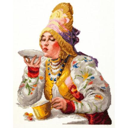 Набор для вышивания Набор для вышивания «Чудесная игла» 66-01 Боярышня за чаем Набор для вышивания «Чудесная игла» 66-01 Боярышня за чаем