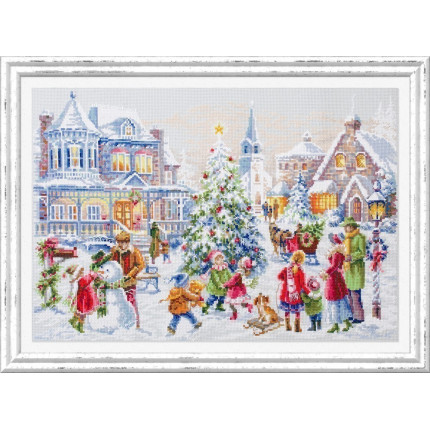 Набор для вышивания Накануне Рождества Набор для вышивания «Чудесная игла» 100-250 Накануне Рождества