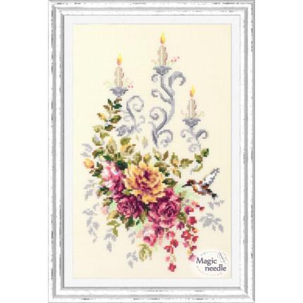Набор для вышивания Праздничный этюд Набор для вышивания «Чудесная игла» 100-201 Праздничный  этюд