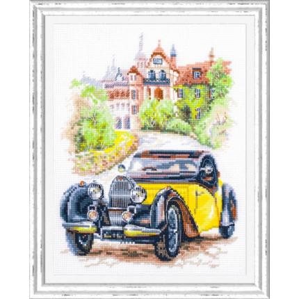 Набор для вышивания Ретро-автомобиль. Франция Набор для вышивания «Чудесная игла» 110-023 Ретро-автомобиль. Франция