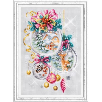 Набор для вышивания Рождественская сказка Набор для вышивания «Чудесная игла» 100-247 Рождественская сказка