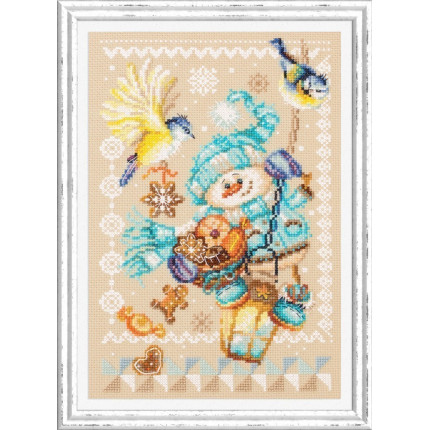 Набор для вышивания Рождественские гостинцы Набор для вышивания «Чудесная игла» 100-260 Рождественские гостинцы